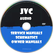 JVC Audio Owner Service Manuals- PDFs on DVD - Huge Collection more than 1500