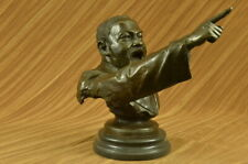 Clllector Edt Martin Luther King Jr Baptist minister Bronze Figurine Busts Art