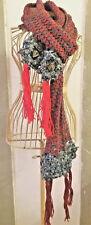 Sciarpa/ferri/knitted/fiori/uncinetto/fatto a mano/crochet/shawl/handmade/Natale