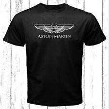Aston Martin Car Logo Men's Black T-Shirt Size S-3Xl
