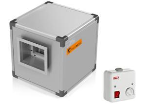 AIR Box Lüftungsbox Küchenabluft  Abluftmotor Abzugsmotor mit Drehzahlregler