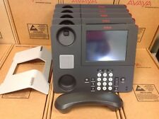 LOT OF 5 AVAYA 9670G 700460215 PHONE W/ STANDS, HANDSETS INCLUDED