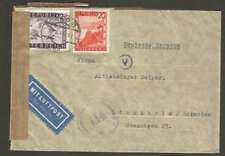 Austria To Sweden Airmail Censor Cover 1948 w 2 Stamps L@@K
