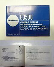 Manuale manual libretto uso manutenzione generatore generator HONDA E3500 multi
