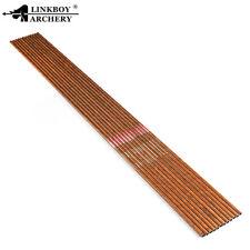 12PCS 32'' ID6.2 SP600 Archery Carbon Arrow Shaft Wood Skin Bow Hunting Arrows
