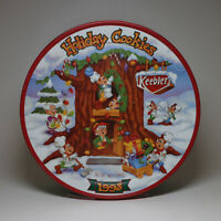 VINTAGE KEEBLER HOLIDAY COOKIES LARGE TINS FOR HOLIDAY DECOR & GIFTS