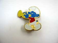 Vintage Collectible Pin: Harmony Smurf Smurfs Trumpet Playing