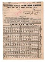 Regno Storia Postale  - 1942 - Carta Annonaria per Pane e Minestra
