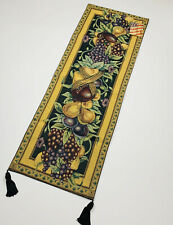 Old World Italy Fruits Grapes Plums Pears Tapestry Wall Hanging Panel