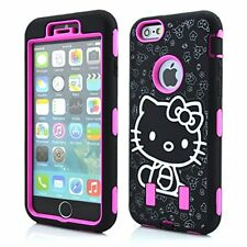 For IPhone 6 6S PLUS Hello Kitty Hybrid Shockproof Defender Style Case Cover HP