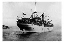 PORT NICHOLSON Australian Troopship Sydney 8th Nov 1916  modern Digital Postcard