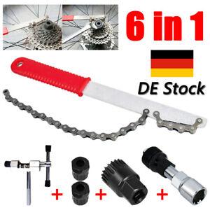6 in 1 Fahrrad Werkzeug Bits Reparatur Werkzeug Zahnkranzabzieher Kurbelabzieher