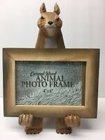 Wholesale Lot Of 6 Carved Wooden Squirrel Picture Frames Craft Fair Gifts