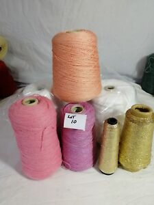 7 Cones Mixed Yarns Machine & Hand Knitting Crochet Various Colours