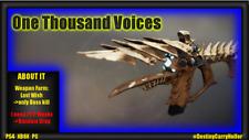Destiny 2 One Thousand Voices - PS4, XBOX, PC