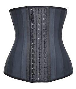 Women's Underbust Latex 25 Steel Boned Waist Trainer Cincher Corset Body Shaper