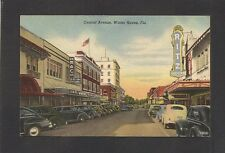 LINEN POSTCARD:  CENTRAL AVENUE - WINTER HAVEN, FLORIDA - RITZ THEATRE, STORES