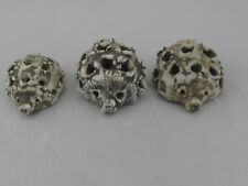 Vintage Hallstatt Austria Lot of 3 Hedgehogs Sculptures Ceramic Pottery