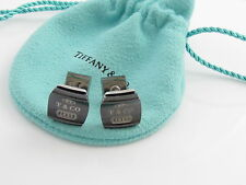 Tiffany & Co RARE Silver 1837 Square Titanium Cuff Links Cuff Link Cufflinks