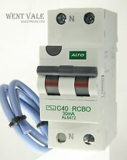 Alto AL6472 - 40a 30mA Type C Single Pole Switched Neutral AC RCBO Un-used