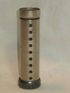 DIME MASTER antique dime coin change holder little bank metal cylinder tube Pat