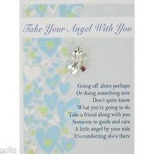 Lleve con usted su ángel guardián Pin de Solapa & tarjeta de mensaje de inspiración Regalo