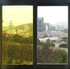 Yellow Window Film Solar Tint House Building Glass Decorative Film 60