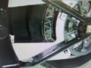 ROADKROME  CHROME STEEL LOWER BELT GUARD - KAWASAKI VULCAN VN2000 2004-10
