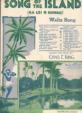 SONGS OF THE ISLANDS (NA LEI O HAWAII) WALTZ SONG by CHAS E KING