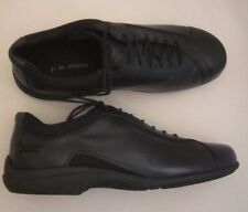 """P.W. MINOR """"Carly"""" Black Leather Lace-up Fashion Sneakers Shoes 10 W New Womens"""