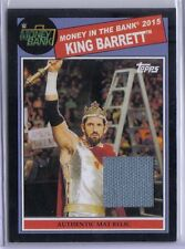 King Barrett 2015 Topps WWE Heritage MITB Authentic Black Mat Relic Game Used 50