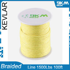 Braided Kevlar Line 1500Lbs Camping Hiking Multifunction Cords Made with Kevlar
