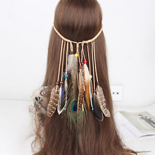 Indian Feather Headband Native American Headdress Hippie Headband Hair Accessor