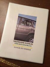 Verkaufshandbuch Range Rover V8 (1985/86) Deutsch + Geländefahrregel + Prospekte