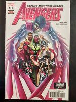 The AVENGERS #11 (2017 MARVEL Comics) ~ VF/NM Book
