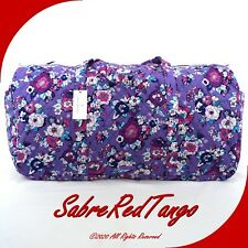 NWT VERA BRADLEY QUILTED XL TRAVELER DUFFEL BAG FLORAL ENCHANTED GARDEN