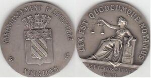 Jeton notaire argent ville d'Abbeville 1910