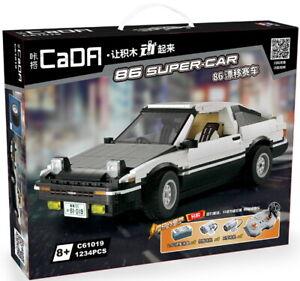 CaDA C61019W 86 Super-Car Klemmbausteine Drift Tuning Auto motorisierbar NEU