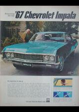 "1967 CHEVROLET IMPALA SPORT SEDAN AD A4 POSTER GLOSS PRINT LAMINATED 11.7""x8.3"""