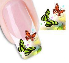 Nail Art de transferencia de agua Pegatina Adhesivos Decorativos Mariposas calcomanías (DX1320)