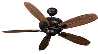 Rubbed bronze 60 inch 5 blade 3 speed ceiling fan, light kit not included