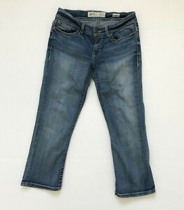 BKE Denim Womens Payton Distressed Capri Jeans Size 28