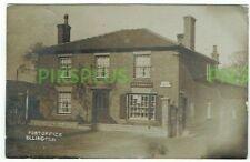 OLD POSTCARD ELLINGTON POST OFFICE HUNTINGDONSHIRE REAL PHOTO VINTAGE USED 1910