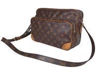 LOUIS VUITTON Vintage Nile Monogram Canvas Crossbody Shoulder Bag LS3116