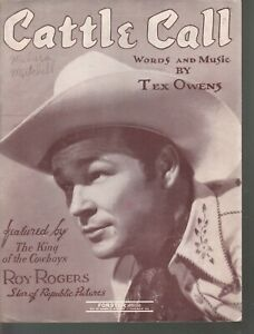 Cattle Call Roy Rogers Sheet Music