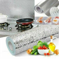 Oil-proof Waterproof Self Adhesive Aluminum Foil Wall Sticker Home Kitchen Decor