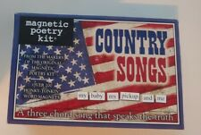 Magnetic Poetry Kit - country songs - 200+ magnet words