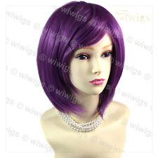 Wiwigs bella dritta viola scuro Bob Cosplay parrucca di capelli Festa Donna