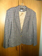 Haberdashery Red Check Wool Blazer, Size 16, EUC