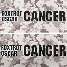 TWO Pack Toolbox Warning STICKERS Foxtrot Oscar SKIN Cancer Awareness